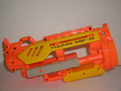 Nerf Vulcan EBF-25 BARREL SECTION SHELL CASE w/ SCREWS Replacement Part