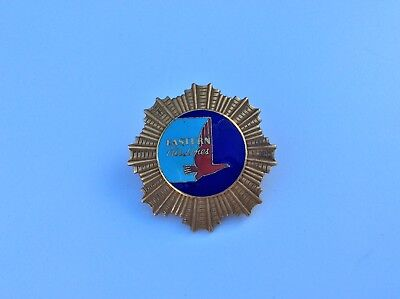 40s Eastern Airlines Captains Hat Badge Wallace Co  Hallmark Nice !