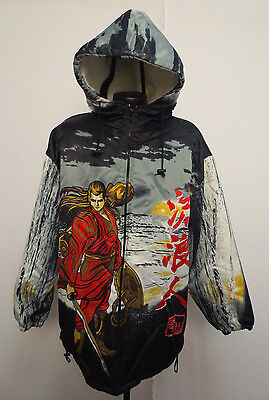 Anime Cartoon Mens Jacket Polyester By Urban Wear Water Proof Vintage Retro Crew