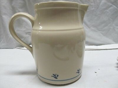 Longaberger Pottery Woven Traditions Classic Blue Water Pitcher - Ex Cond 64 Oz