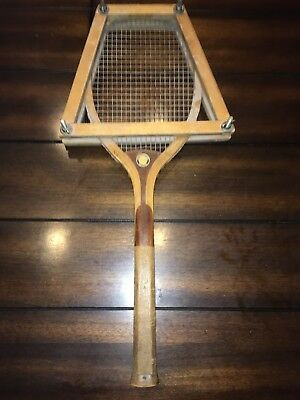 Rare Antique 1900s Spalding Gold Medal Wood Tennis Racquet EXCELLENT CONDITION!!