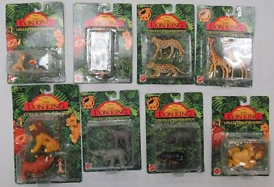 Vintage Mattel The Lion King PVC Figure lot of 8 NEW ON CARD  FACTORY SEALED
