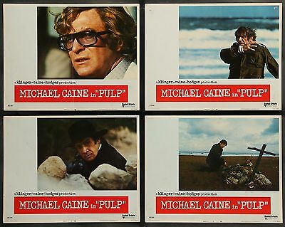1972 PULP Michael Caine Mickey Rooney SET OF 8 ORIGINAL MOVIE LOBBY CARDS