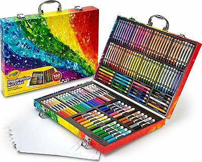 Crayola Inspiration Art Case Tools Gift Set Crayons Pencils Markers 140 Pieces