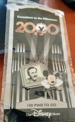 #101 Countdown to the Millennium Walt Disney and Mickey  Disney Pin 417