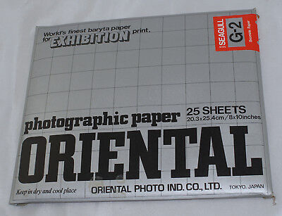 Oriental Seagull G-2 Bromide Paper 8x10 25 Sheets Sealed