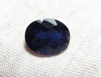 12x10mm NATURAL BLUE IOLITE faceted OVAL CUT LOOSE GEMSTONE from natural rough