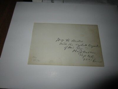 William H. Weston  autographed album page.  Was page of  42nd Congress