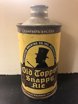 Old Topper Snappy Ale low profile cone top IRTP