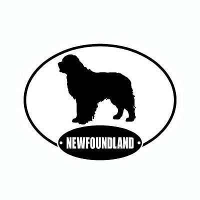 Newfoundland Newfie Euro Vinyl Dog Car Decal Sticker