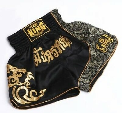 MMA TOP KING Muay Thai Boxing Shorts Kickboxing Trunk Fighting Pants Fitness