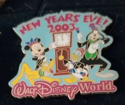 walt disney world trading pin limited edition new years eve 2003 LE 7500