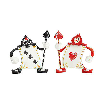 Disney World of Miss Mindy Alice Wonderland Ace of Hearts & 3 of Spades Statues