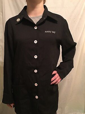 Mary Kay Black W/pink Buttons Smock Jacket Size Small
