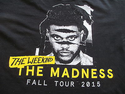 The Weeknd The Madness Fall 2015 Tour Black Yellow T Shirt S Small M Medium