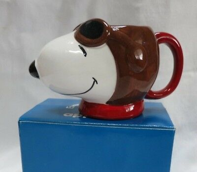 Snoopy FLYING ACE Figural Mug New in Box Applause
