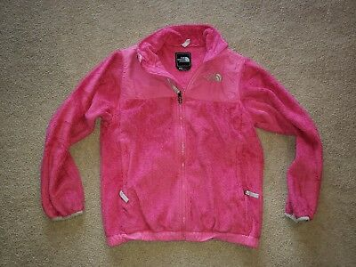 The North Face Denali Zip-up Jacket Coat Fleece Shell Girls Youth Large L Pink