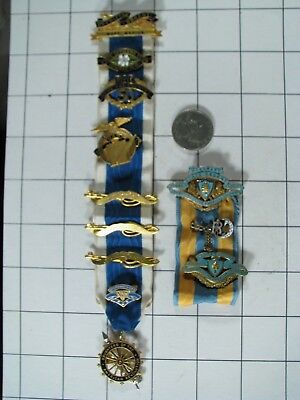 Daughters of the American Revolution / Colonists DAR Ribbon Pins Hausner Sutliff