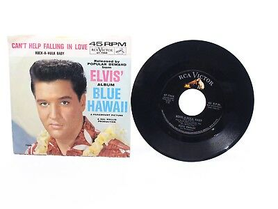 Elvis Rock A Hula Baby, Blue Hawaii RCA Victor 45 Black Label 47-7968 VG+ / VG+
