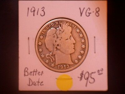 1913 50C Barber Half Dollar, 10% OFF SALE