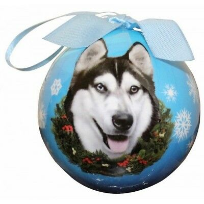Siberian Husky Shatterproof Ball Dog Christmas Ornament