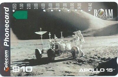 $10 Apollo 15, 'lunar Rover'; Top Quality Telstra Phonecard