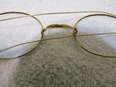 Vintage Antique Solid Gold Frame Eyeglasses Specs   Circular 14k 4 grams