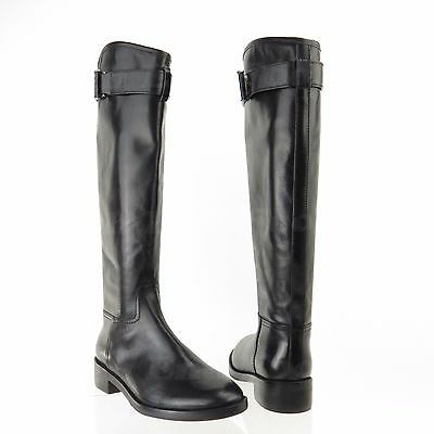 caf3b6fad0e0f Tory Burch Grace Women s Black Leather Knee High Riding Boots Sz 8.5 M NEW   495