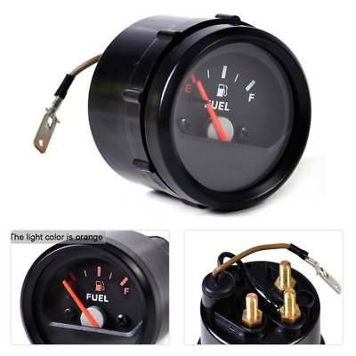 """2"""" 52mm Universal Mechanical Motorcycle Fuel Level Gauge Meter E-1/2-F Pointer"""