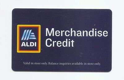 Expired ALDI Grocery Stores  MERCHANDISE CREDIT CHARGE card - USED - NO VALUE