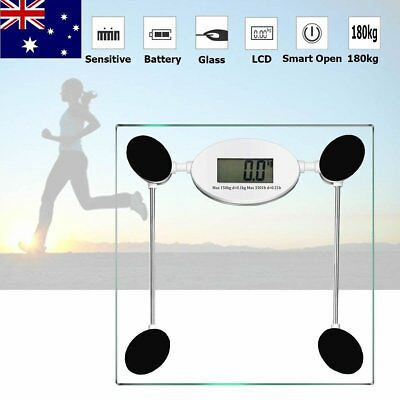 400Lb Digital Electronic Glass Lcd Bathroom Body Weighing Scale Measuring Scale