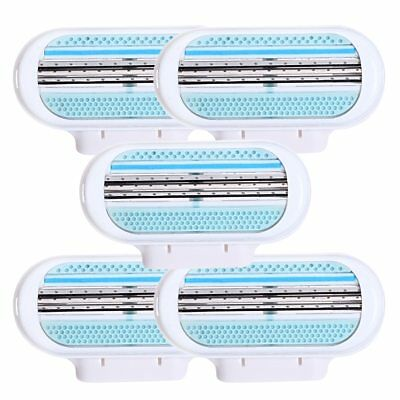 5pcs/lot Beauty Female Safety Razor Blade Shaving For Women 3 Layer Blades Shave