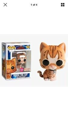 Funko Pop! Captain Marvel 426 Goose The Cat Flocked BoxLunch Exclusive Confirmed