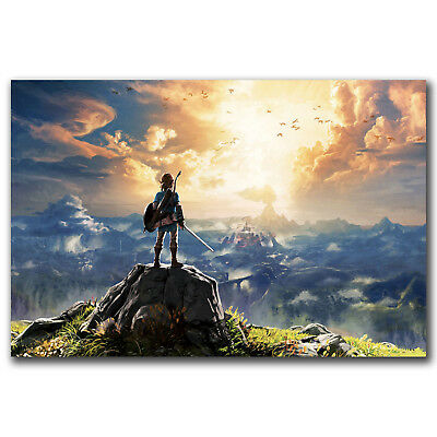 Game The Legend of Zelda Breath of the Wild Art Hot 12x18 24x36in FABRIC Poster