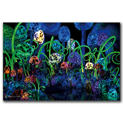 Psychedelic Trippy Mushroom Abstract Art Hot 18 24x36in FABRIC Poster N2822
