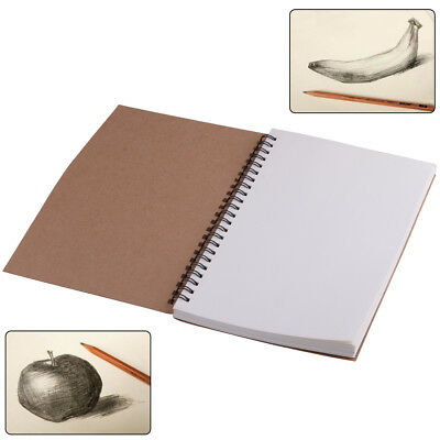 A5 Vintage Spiral Coil Notebook Memo Diary Notepad Kraft paper Exercise Book