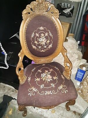 antique victorian parlor chairs