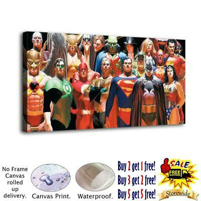 """12""""x24""""Super hero HD Canvas prints Painting Home Decor Picture Room Wall art"""