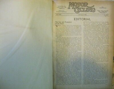 * Motorcycling Motor-Cycling magazine 1945  bound year 52 issues 1832-1883 RARE