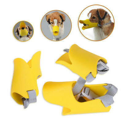 S/M/L Silicone Anti-Bark Muzzle for Dog Puppy Biteproof Duck Bill Mouth Cover