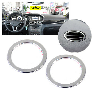 2x Chrome Plated Interior Air Vent Outlet Trim Cover Ring for Mercedes Benz W246