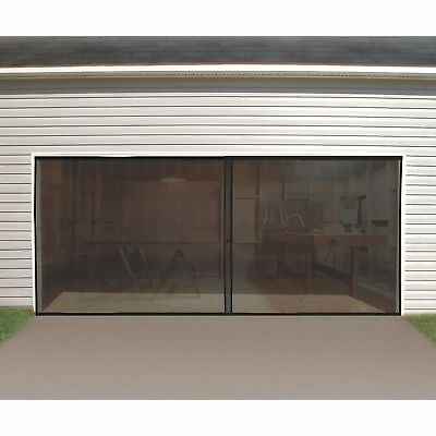 Double Garage Door Magnet Bottom Insect Bug Mesh Screen Enclosure Pest Repellent