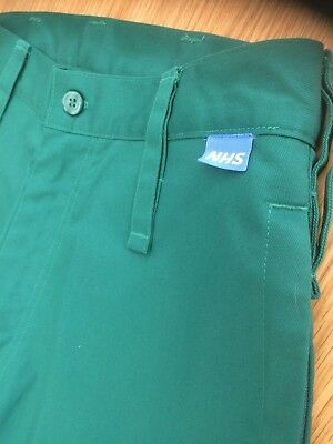 Dimensions Corporate Paramedic Green NHS Trousers, New - Size 44W Regular Leg