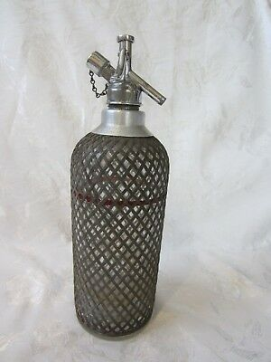 Vintage Sparklets Wire Mash Soda Syphon C Size Glass 066 Made In England 1927