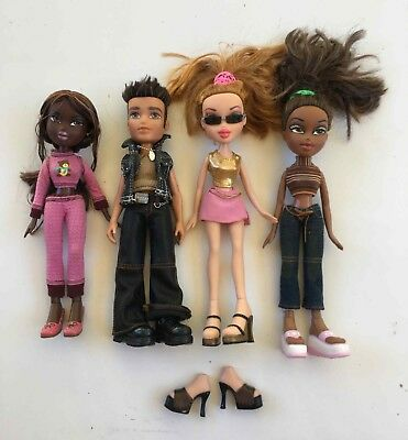 4 x BRATZ dolls rare FELICIA MGA 2001 girls and DYLAN 2003 first edition