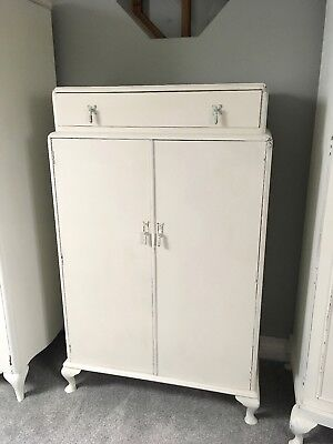 Vintage Painted Small Wardrobe