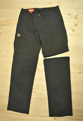 Womens FJALLRAVEN Karla Zip-off MT Trousers Shorts Transformer Pants size 38