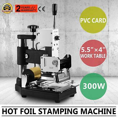 HOT FOIL STAMPING MACHINE HEAT UP QUICKLY PVC EMBOSSING PAPER LEATHER PVC Card