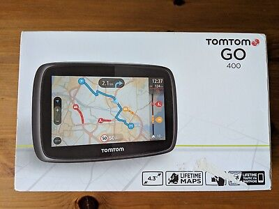 "Used Tom Tom Go 400 4.3"" Uk and Europe Lifetime Maps"