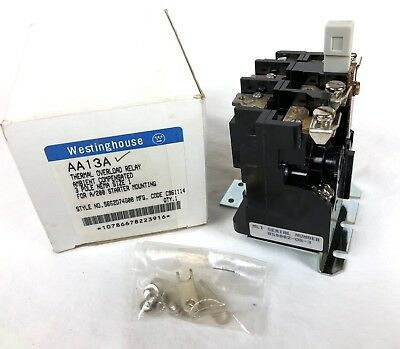 New Surplus Westinghouse AA13A Thermal Overload Relay 3P NEMA 1